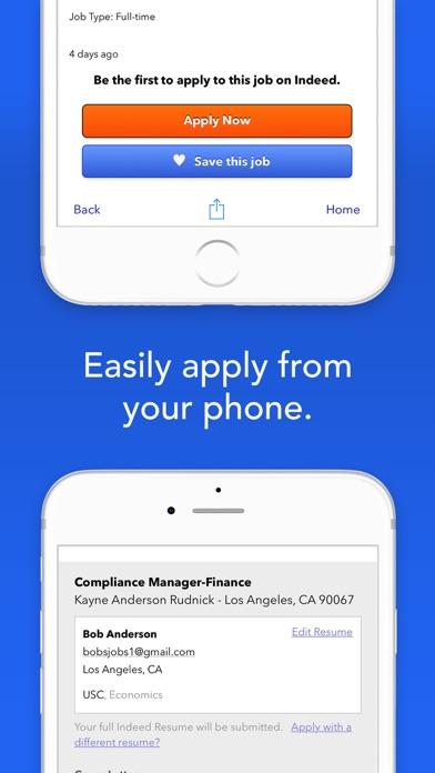 Screenshot 3 for Indeed's iPhone app'