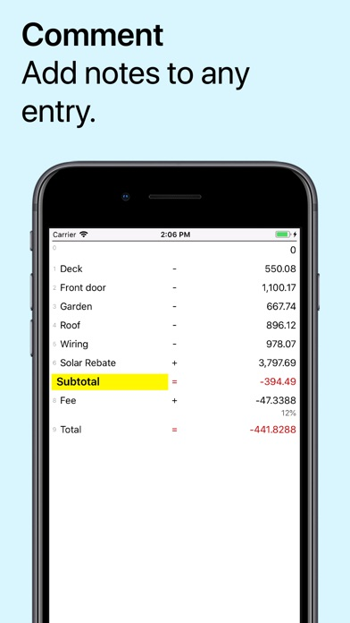 Screenshot #8 for Digits Tape Calculator
