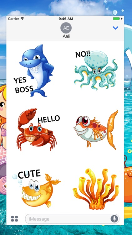 Sea Animal Stickers Pack screenshot-0