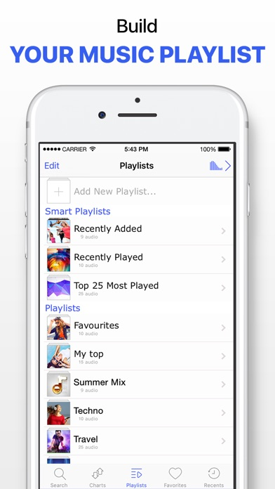 Screenshot for Music Player & Unlimited Songs in Malaysia App Store