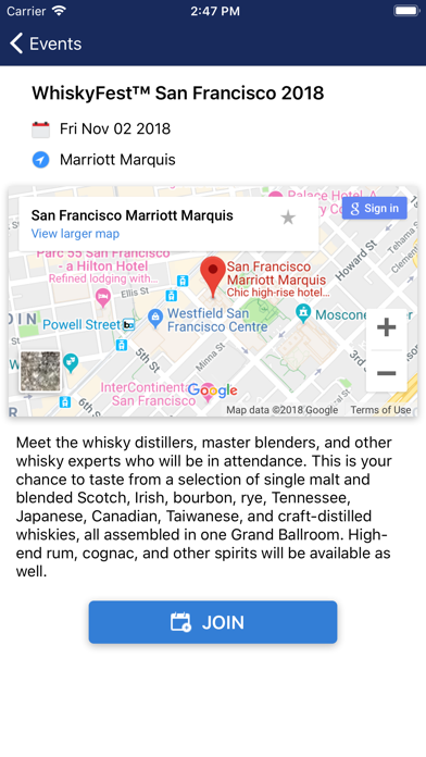 WhiskyFest 2018 Screenshot