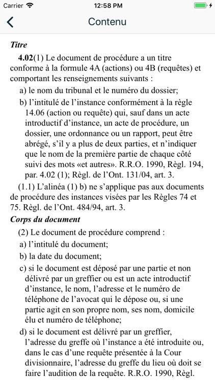 Rules of Civil Procedure (Ont) screenshot-3