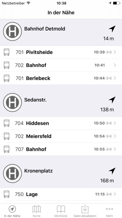 Fahrplan SVD Detmold