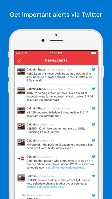 Caltrain - Real-time Schedule - by Pierre-Luc Beaudoin - #20