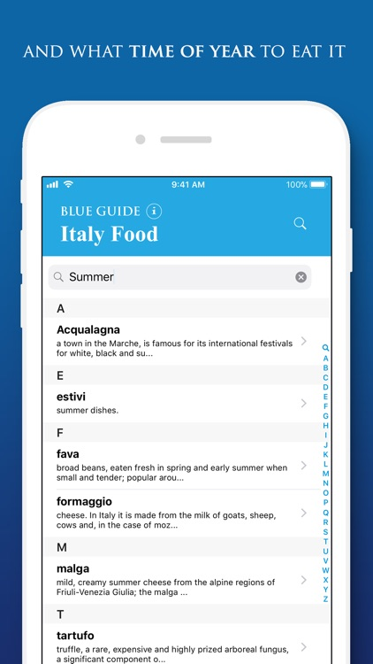 Italy Food by Blue Guides