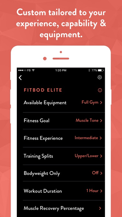 Fitbod Weight Lifting Tracker app image