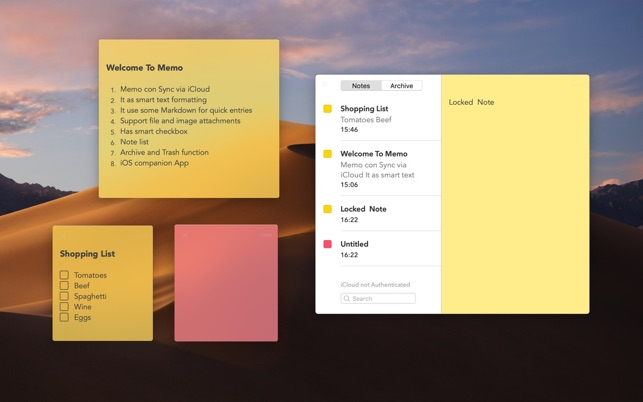 sticky notes for ipad and mac