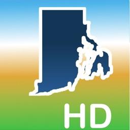 Aqua Map Rhode Island Lakes HD