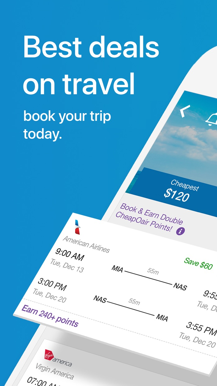 CheapOair Cheap Flights Screenshot