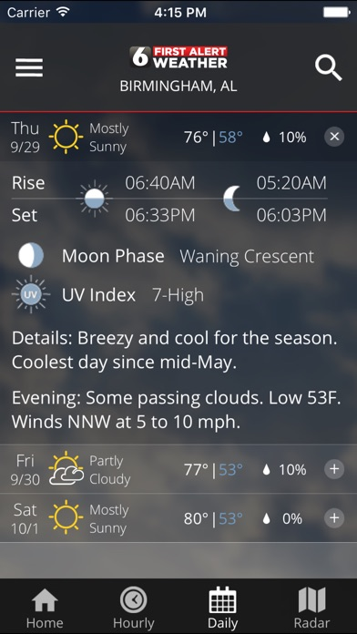 download WBRC First Alert Weather apps 1