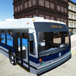 Traffic Coach Bus Simulator in US City Streets