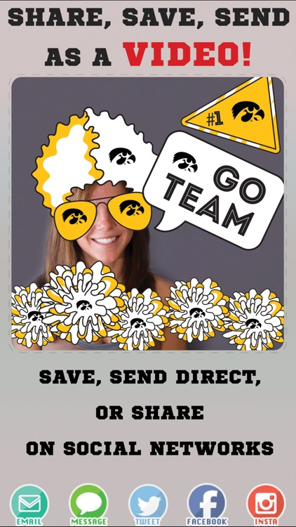 Iowa Hawkeyes Animated Selfie Stickers screenshot-3