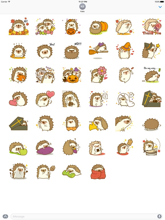 Hedgehog In Autumn Sticker screenshot 4