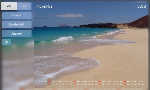 Calendar for TV