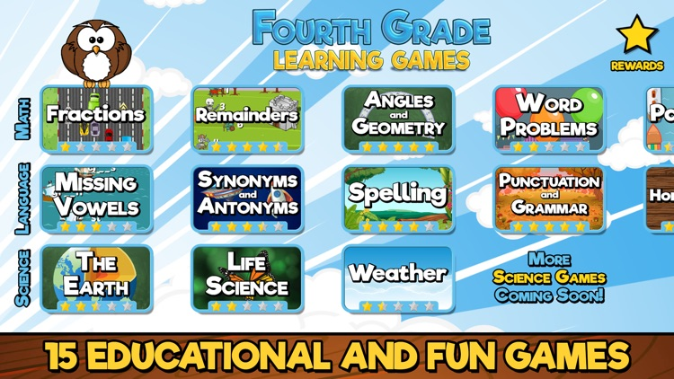 Fourth Grade Learning Games SE screenshot-0
