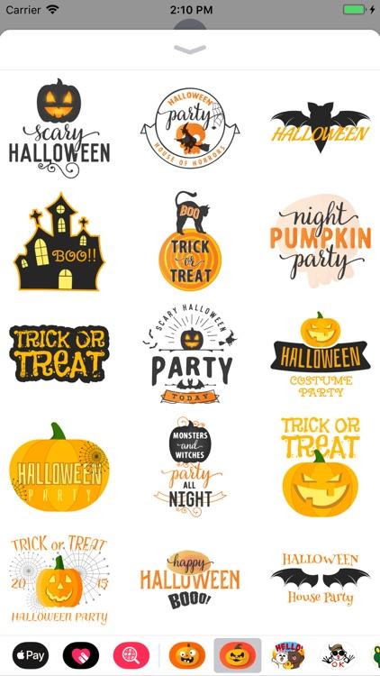 Happy Halloween Spooky Sticker