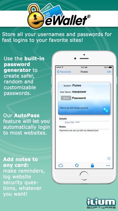 eWallet - Password Manager app image