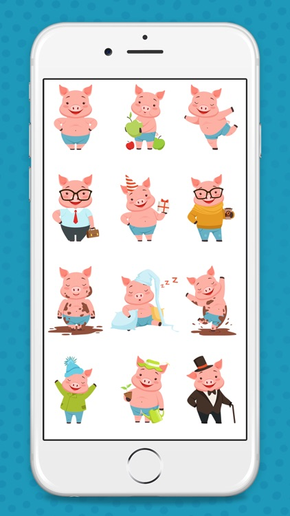 Animated Pink Pig Stickers
