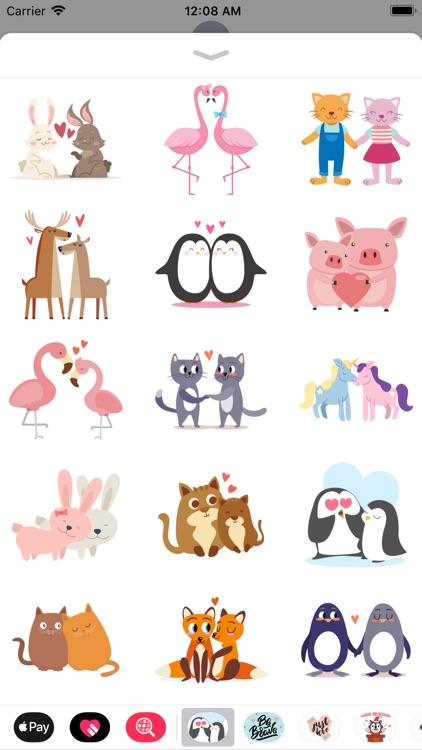 Valentine Couple Love Stickers