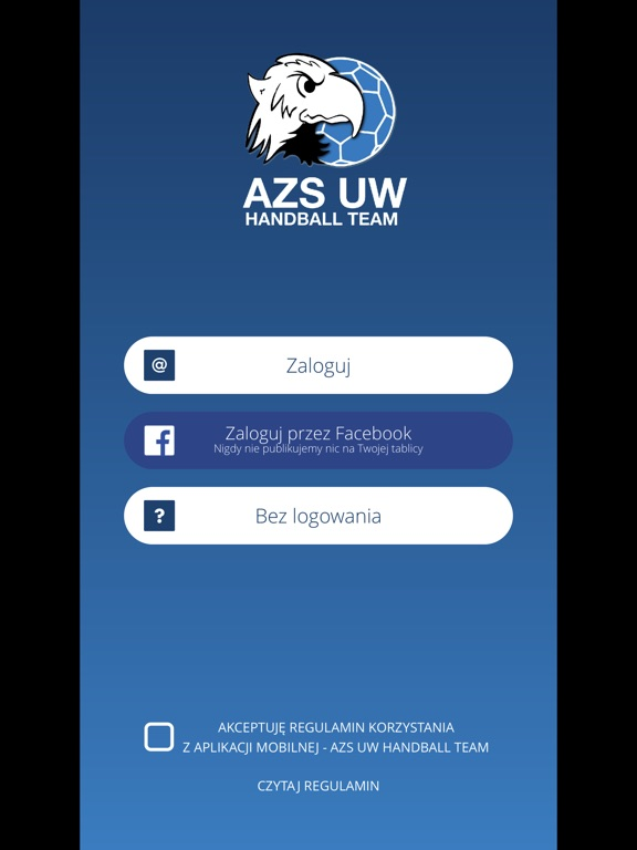 Image of AZS UW Handball Team for iPad