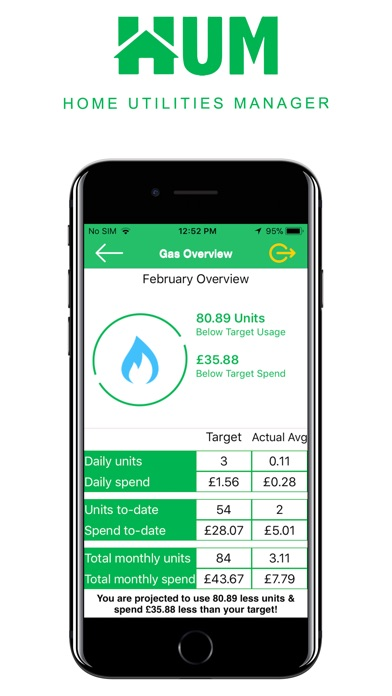 Screenshot of Home Utilities Manager App
