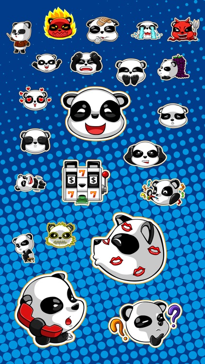 Cute Panda - iMessage Stickers screenshot-1