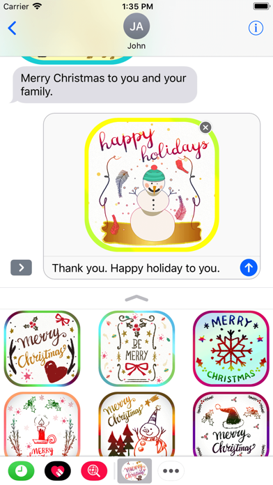 Christmas Card Stickers Pack screenshot three