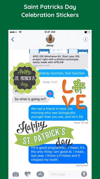 Happy Saint Patricks Day Emoji screenshot-3