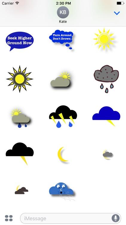 Weather Alert Stickers