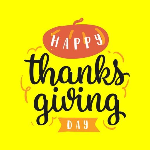 Happy Thanksgiving Fun Sticker