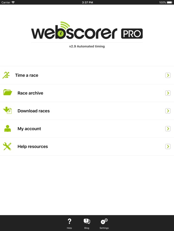 Webscorer Race & Lap Timer HD