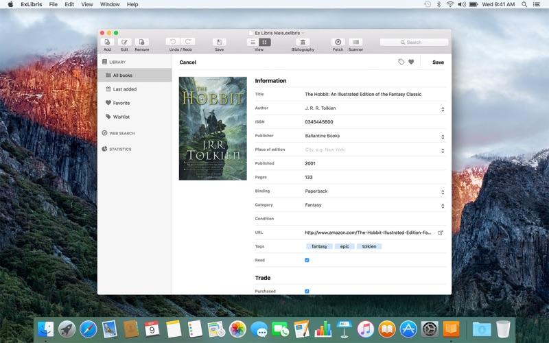 ExLibris Screenshots