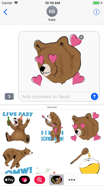 Party Bear Stickers Lite
