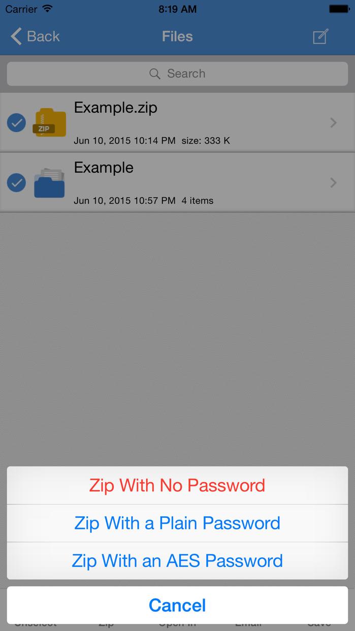 iZip - Zip Unzip Unrar Tool Screenshot