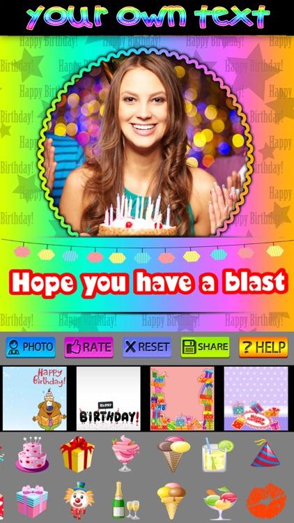 Birthday Cards and Frames screenshot-3