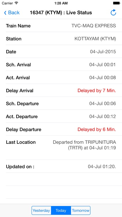 Train Status screenshot-0