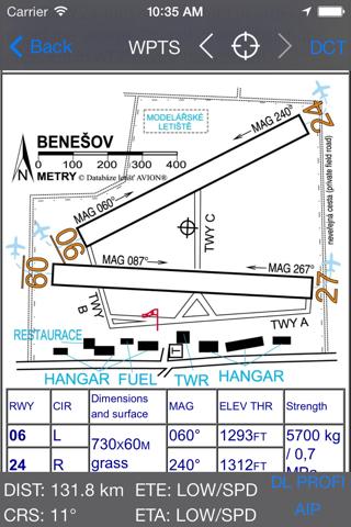 Databáze letišť - náhled