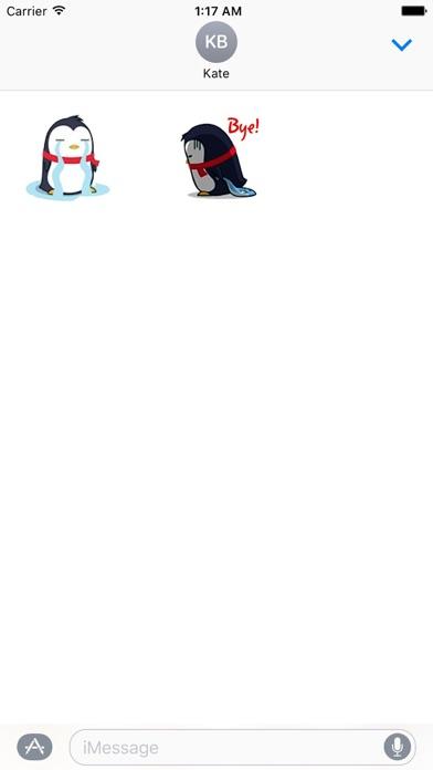 Animated Xmas Penguin Sticker screenshot 3