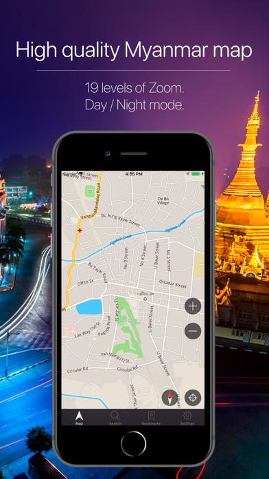 Myanmar Offline Navigation Screenshot
