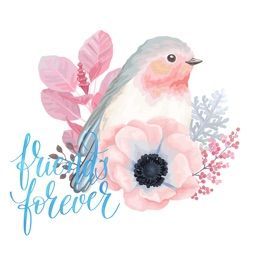 Watercolor Vintage Flowers Nature Birds and Wishes