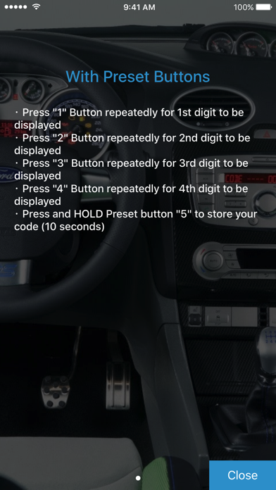Screenshot for Radio Code for Ford M in Germany App Store
