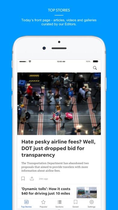 Caller Times Screenshot on iOS