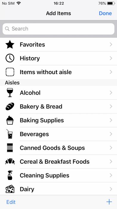 Grocery & Shopping List Screenshot