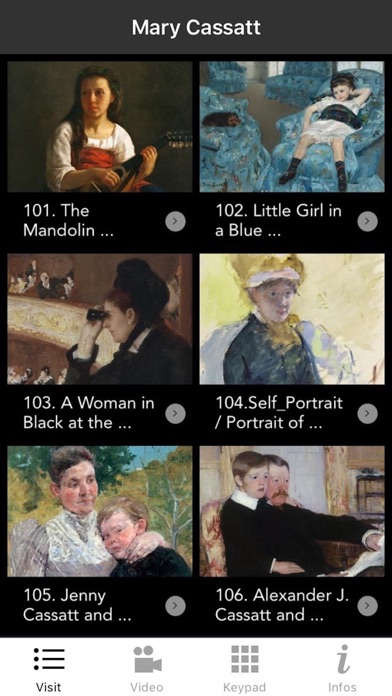 Mary Cassatt exhibition screenshot 1