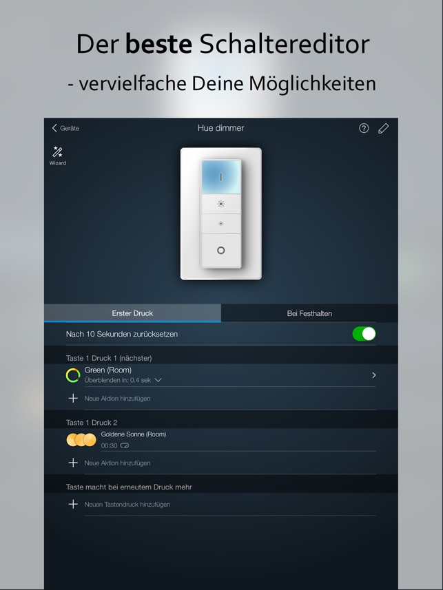 iConnectHue HD für Philips Hue Screenshot