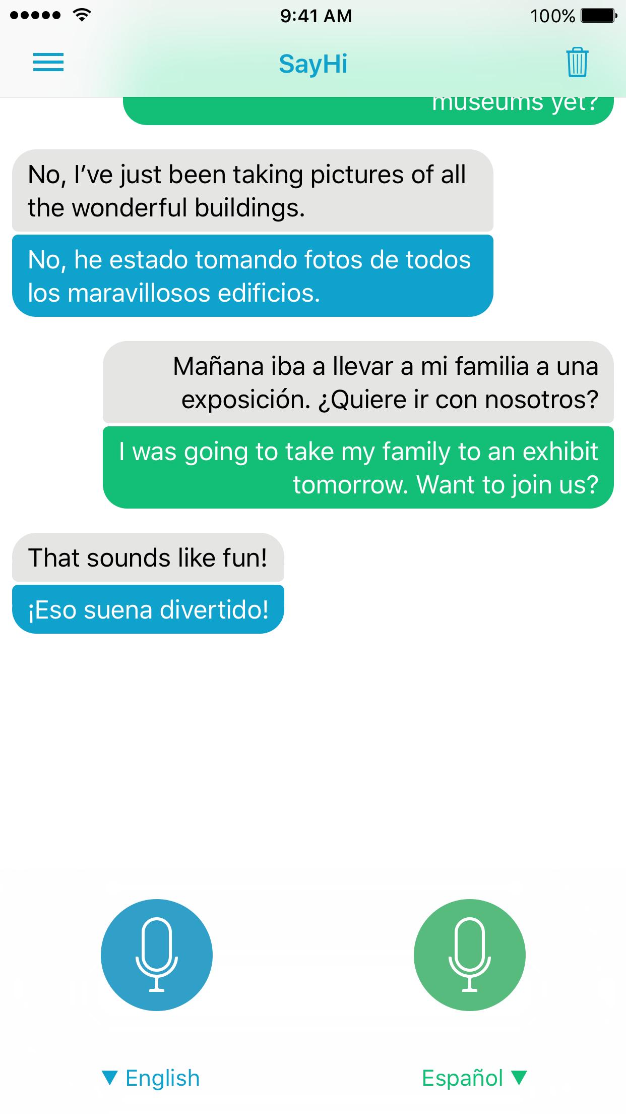 SayHi Translate Screenshot