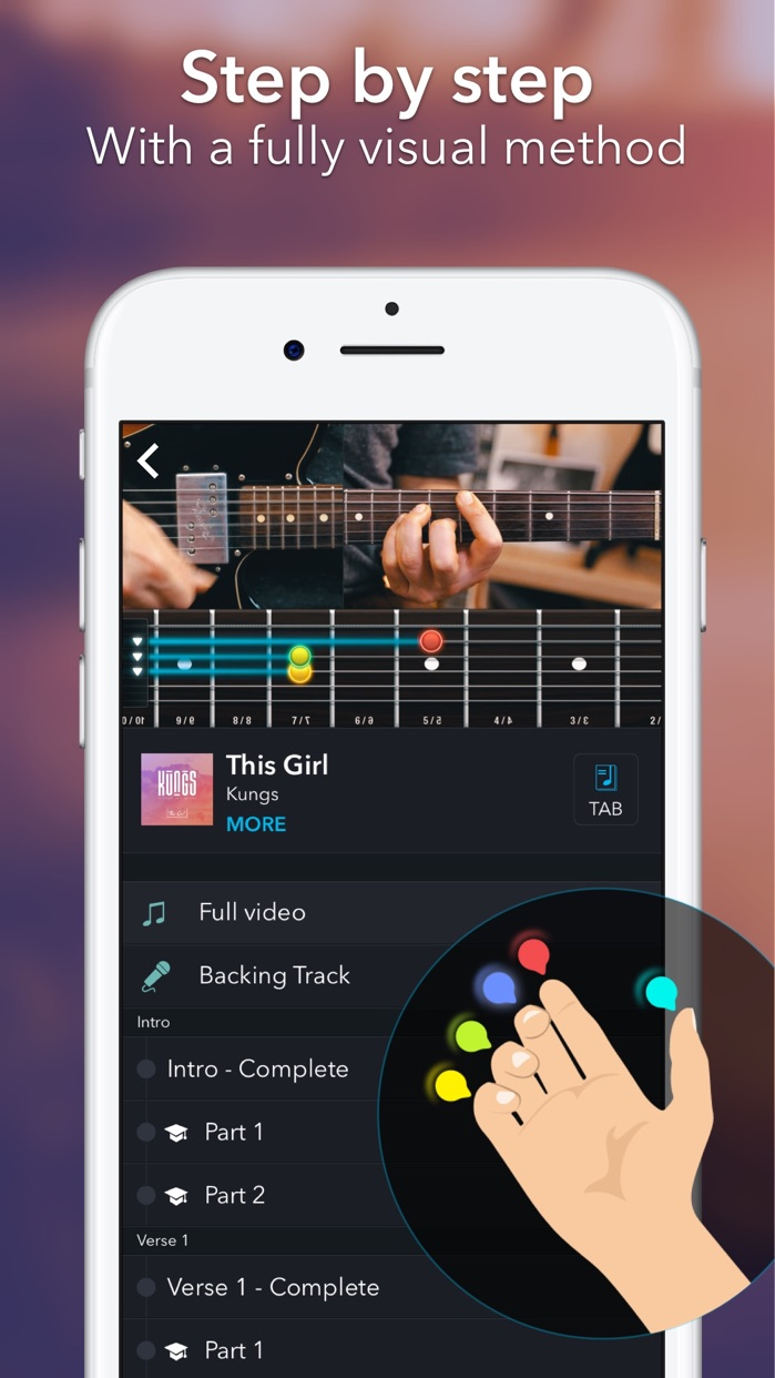 Coach Guitar chords tuner tabs Screenshot