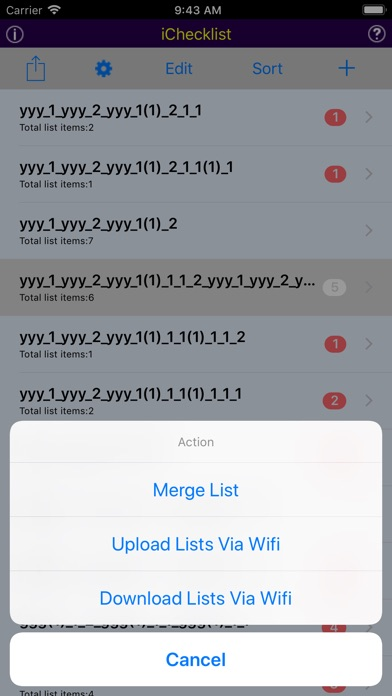 iChecklist Screenshots