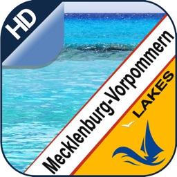 Mecklenburg-Vorpommern lakes offline fishing chart