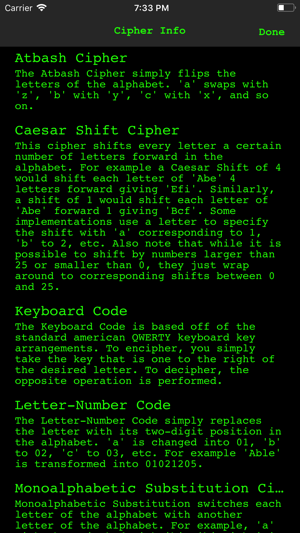 Cipher Sender on the App Store